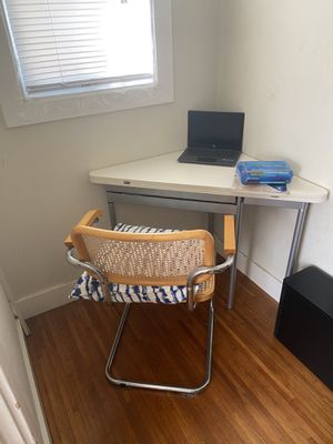 IKEA foldable corner table. Can be pulled out into square desk. for Sale in Oakland, CA