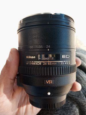 Nikon AF-S Nikkor 24-85mm Camera Lens for Sale in Carrollton, TX