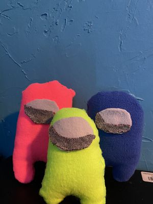 3 among us plushies for Sale in Appleton, WI