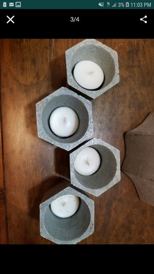 Rose Gold & Concrete Hexagon Tea Light Holders for Sale in Los Angeles, CA