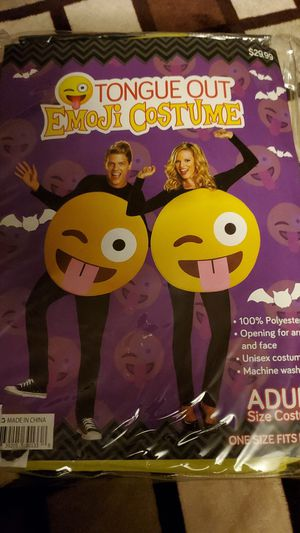 Adult Size Tongue Out Emoji Costume for Sale in Phoenix, AZ