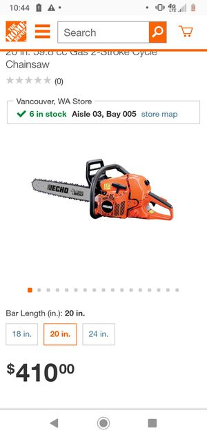 Echo cs-590 chainsaw for Sale in Vancouver, WA