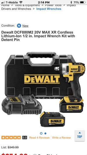 Dcf 880 impact Dewalt wrench driver for Sale in Dearborn, MI