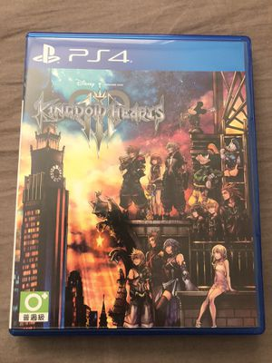 Kingdom Hearts III 王國之心 III Asia Chinese subtitle PlayStation PS4 for Sale in Colma, CA