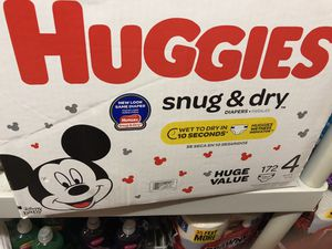 Huggies diapers size 4 for Sale in Tukwila, WA