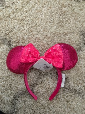 Minnie Mouse Glitter Hot Pink ears for Sale in Canoga Park, CA