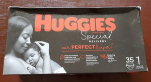 Huggins Diapers size newborn and 1 for Sale in New Fairfield, CT