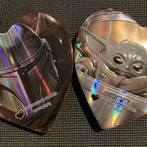 THE MANDALORIAN & THE CHILD HEART TIN's Valentine's Chocolate Caramel Hearts for Sale in Kent, WA