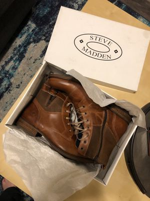 Size 13 Men's Steve Madden Brown Leather Boots! for Sale in Alexandria, VA