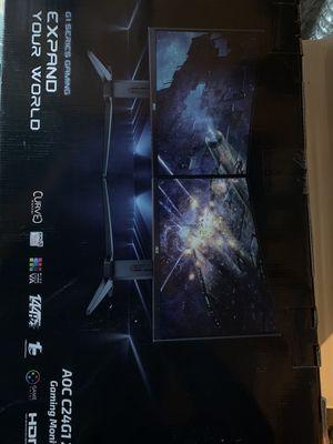 AOC C24G1 24 Curved Frameless Gaming Monitor for Sale in Philadelphia, PA