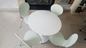 Breakfast Table Set - White for Sale in Dublin, OH