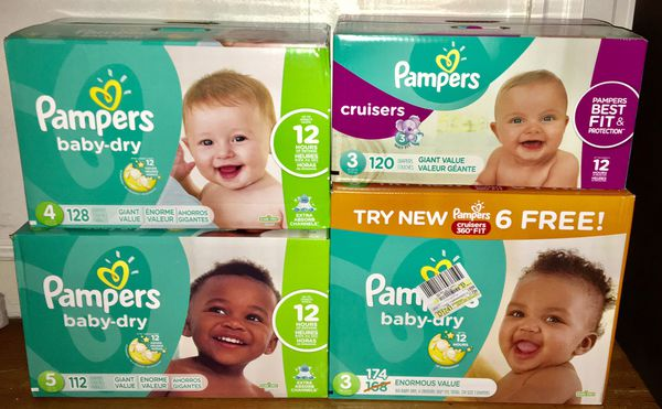 PAMPERS SIZE 3,4,5