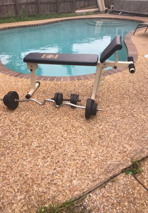 Weight bench and wheights for Sale in Margate, FL