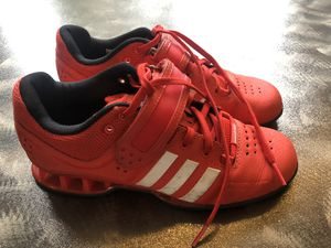 Red Adidas weightlifting CrossFit exercise workout training fitness shoes Size 5 for Sale in Kent, WA
