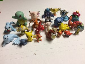 Retro Nintendo Pokémon toys action figures Pikachu Charmander vulpix vaporeon for Sale in San Ramon, CA
