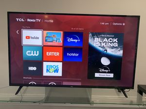 TCL Roku 4K 55 inch Tv and Console for Sale in South Jordan, UT