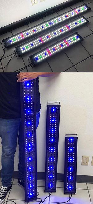 """(New in box) Aquarium LED Fish Tank Light 3 Sizes: ($30 for 24""""-30""""), ($40 for 36""""-43"""") and ($45 for 45""""-50"""") for Sale in Whittier, CA"""