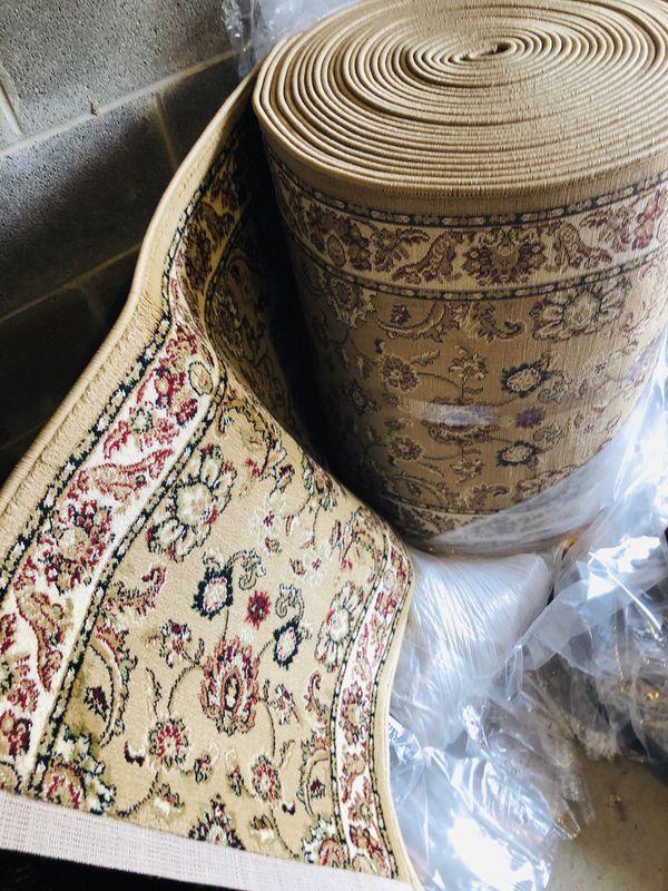 Brand new Runner Carpet 30 feet long for stairway , hallway, entryway rug runners beige tan color