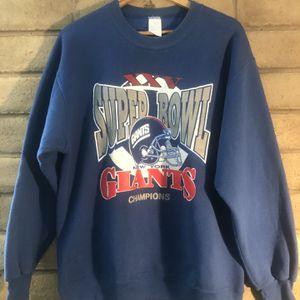 New York Giants XXV Super Bowl Crewneck - XL for Sale in Manteca, CA