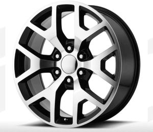 "24"" GMC Snowflake Wheel Package REPLICA GMC 24x10 RIms Machine Black Package Including Tires ... $1399 for Sale in Westminster, CA"