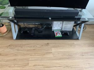 Glass TV Stand for 55 Inch TV for Sale in Seattle, WA