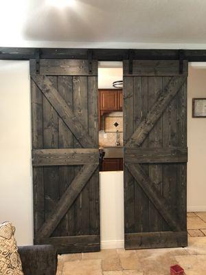 Customize barn door with hardware for Sale in Baldwin Park, CA