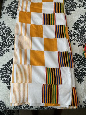 Gold and white Kente cloth for Sale in Chandler, AZ
