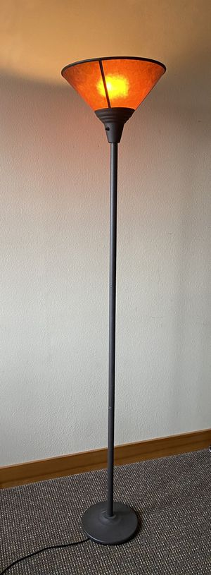 6' floor lamp Amber shade. for Sale in Gig Harbor, WA