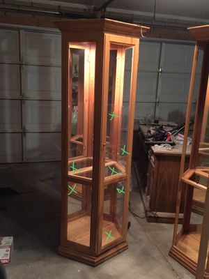 2 free glass cabinets - missing glass for Sale in Glendale, AZ
