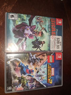 Nintendo switch Lego marvel super heroes 2 and Dragons Dawn of new riders for Sale in Friendswood, TX