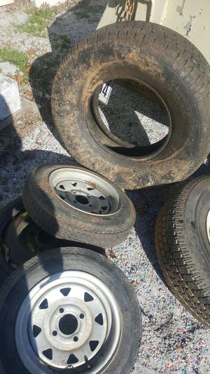 2 small trailer tires 4 stads..{link removed} for Sale in Julian, NC