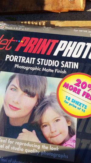 Portait studio satin jet print phito mTte finish for Sale in Victorville, CA
