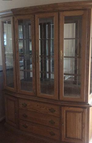 Oak China Cabinet for Sale in Herndon, VA