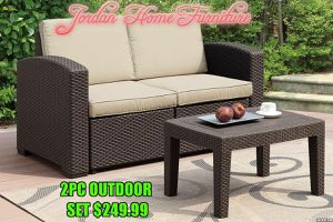 ☀️2pc Outdoor Set ☀️ Jordan Home Furniture ☀️ 2630 Niles st &3900 Chester ave ☀️ for Sale in Bakersfield, CA