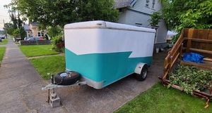 Camper cargo utility enclosed trailer solar 12ft price 1000$ for Sale in Tallahassee, FL