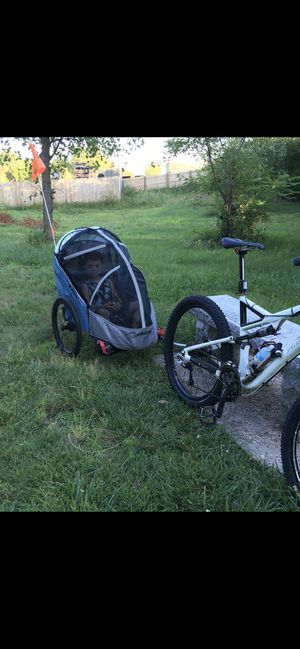 2010 large specialized Stumpjumper plus Trek solo bug bike trailer and stroller for Sale in Milford, MA