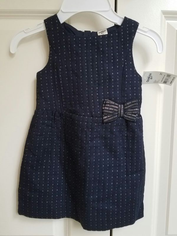New with tags Oshkosh navy with gold flecks dress size 2T or 3T - $12 each not negotiable