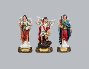 New 12 inch St Michael, St Gabriel, and St Raphael Archangels Statues Figurines for Sale in Hacienda Heights, CA