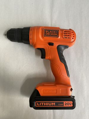 Black & Decker 20-Volt Max Lithium-Ion Cordless Drill/Driver Model LD120 for Sale in Winter Springs, FL