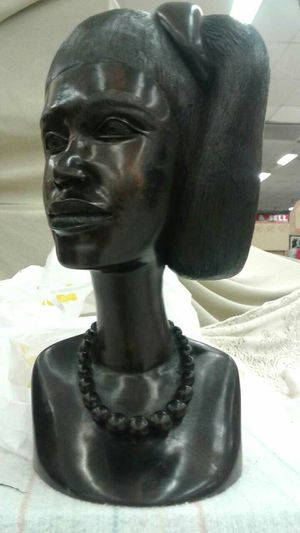 Mahogany wood African statue head for Sale in Baltimore, MD