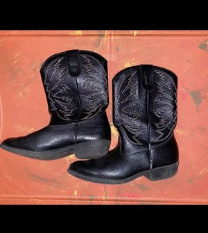 "Boys Vintage Black Cowboy Boots by ""Smartfit"" - size 2. Bsk for Sale in Saginaw, TX"