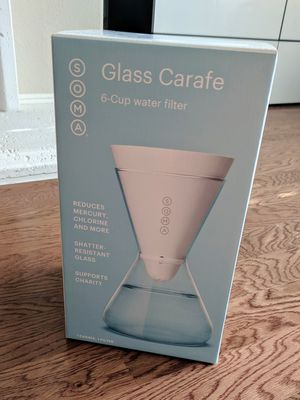 New Soma 6-Cup Filtration Water Glass Carafe Filter Drinking Purification Purifier Pitcher for Sale in Plano, TX