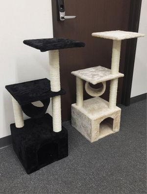 New in box 36 inches tall cat tree tower house scratcher scratching play post pet furniture beige or black color $20 each casa del arbol del gato for Sale in Los Angeles, CA