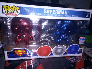 Superman Chrome 3 Pack funko for Sale in Tolleson, AZ