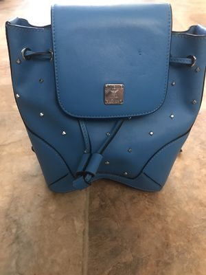 MCM blue studded bag - used for Sale in Centereach, NY