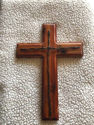 Wooden metal cross / home staging decor for Sale in Katy, TX
