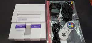 Super Nintendo W/ Cables + Controller for Sale in Hutto, TX