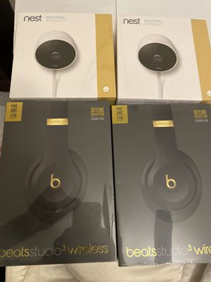 beats studio 3 (new new )and nest camera (new new) for Sale in La Puente, CA