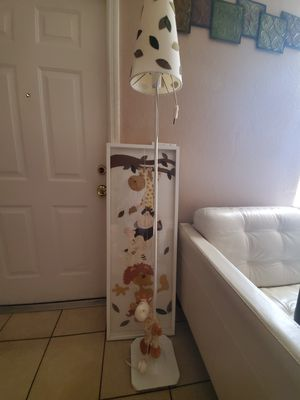 Lamp,frame,and pillow for Sale in Fort Myers, FL