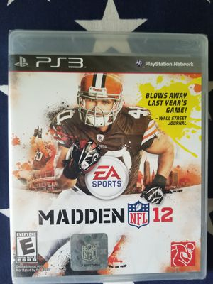 Madden NFL 12 (PS3) NEW IN PLASTIC for Sale in US
